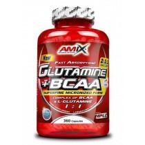 Glutamine + BCAA 360 Caps - Amix Glutamina