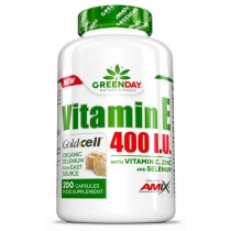 Vitamin E 400 I.U. LIFE+ 200 Caps - Amix GreenDay Series
