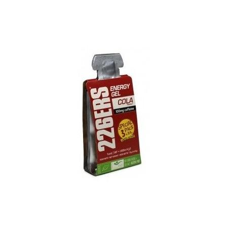 Energy Gel Cola con 100mg de Cafeina - 3 geles x 25 gr - 226ERS