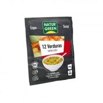Sopa  12 Verduras Ecológica Bio 40 G - NaturGreen