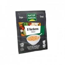 Sopa Fideos 8 Verduras Bio 40 g - Naturgreen