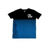 Camiseta hombre M.C Azul Talla L Amix