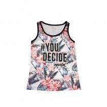 Camiseta Mujer BAsket Rosas You decided Talla XS - Amix