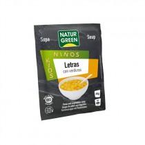 Sopa Letras con Verduras Bio 40 g - NaturGreen