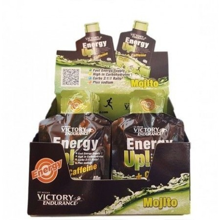 Energy Up! + Cafeína Gel 24 geles x 40 gr - Victory Endurance