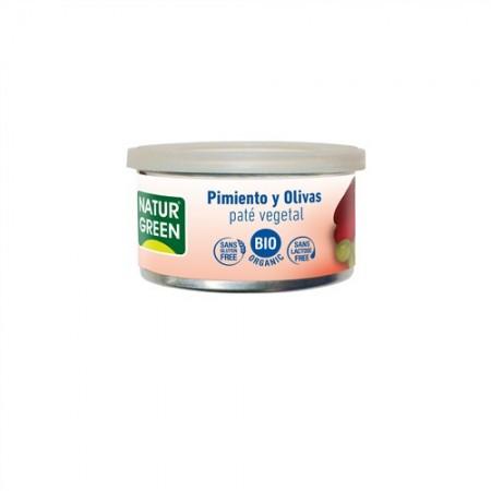 Paté Pepper/Pimiento Olives/Olivas Bio 125 g NaturGreen