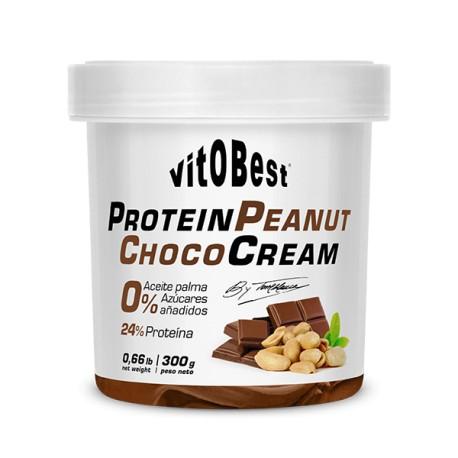 Cream Protein Peanut Choco 300 gr - Crema Proteica de Cacahuete y Chocolate - Vitobest